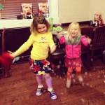 the kids enjoying bubbles at Bob Evans.jpg