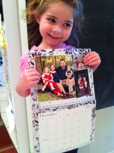 Lily with her calendar from ArtsCow