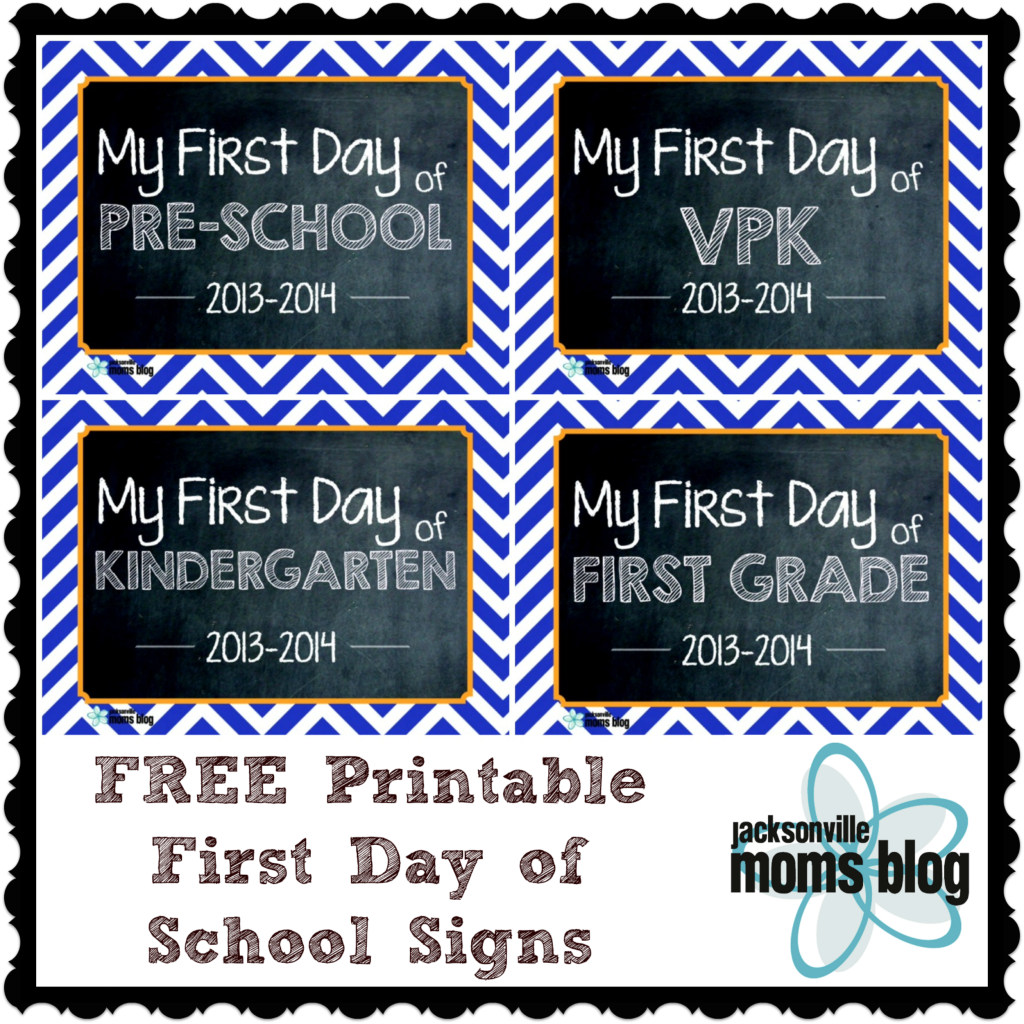 First Day Of Kindergarten Sign Free printable first day of