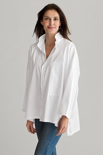Purchase a classic like this white dress shirt in natural cotton fiber.