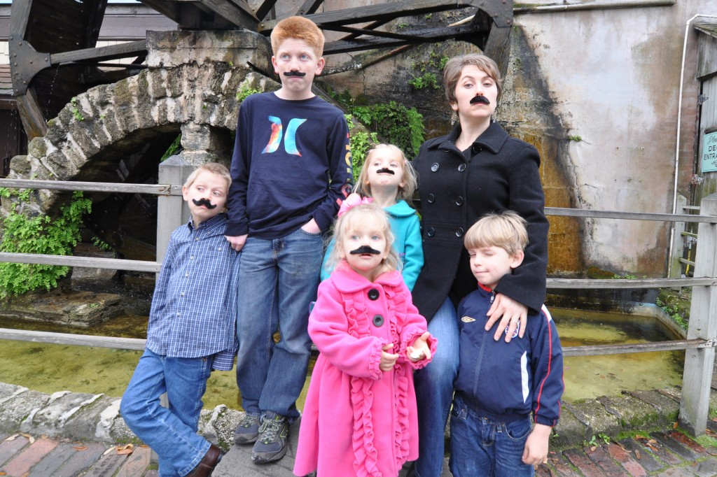 moustaches - homeschooling