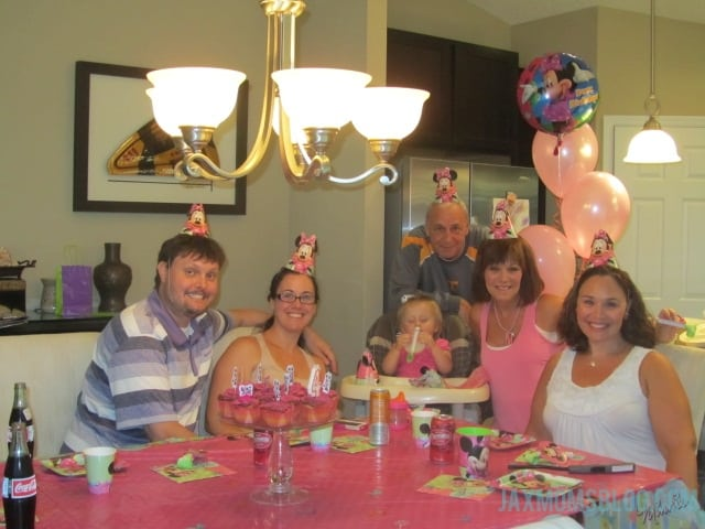 Celebrating Sydney's 4th birthday with my family