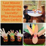 Last Minute Thanksgiving Crafts for the Uncrafty {Plus Printable Place Cards!}