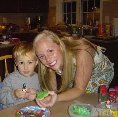 Decorating cookies with my nephew Bo (2008)