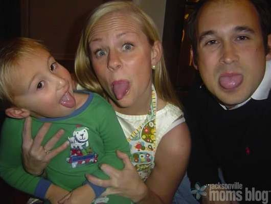 Goofing off with my nephew and brother-in-law (2008)