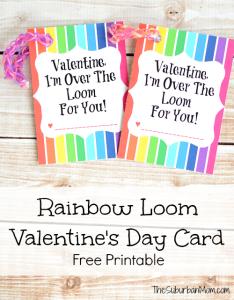 Rainbow Loom Valentines