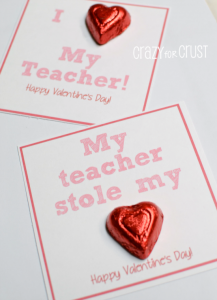 Teacher Stole My Heart Valentine