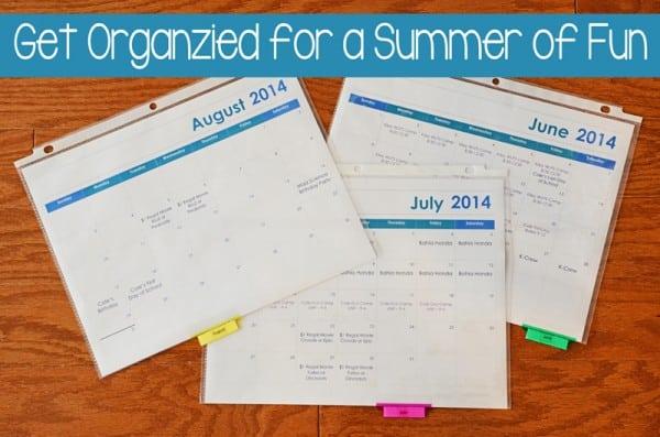 Summer Organizational Binder