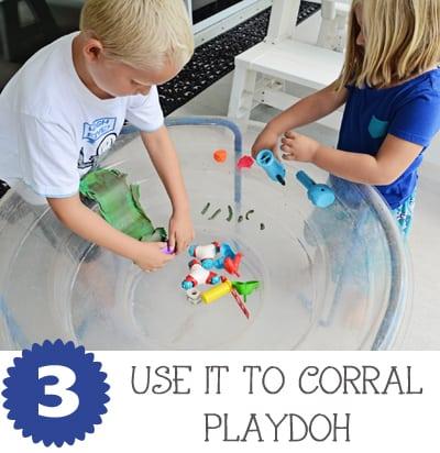 Water Table Playdoh JaxMomsBlog
