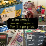 Maximizing your Money During the Tax Free Days! School Supplies!