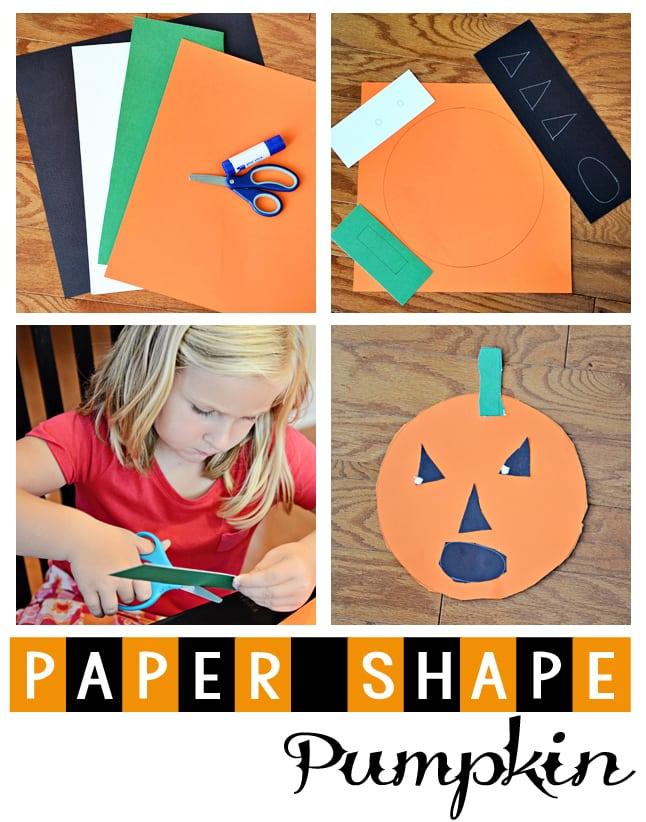Paper Shape Pumpkin Jax Mom Blog