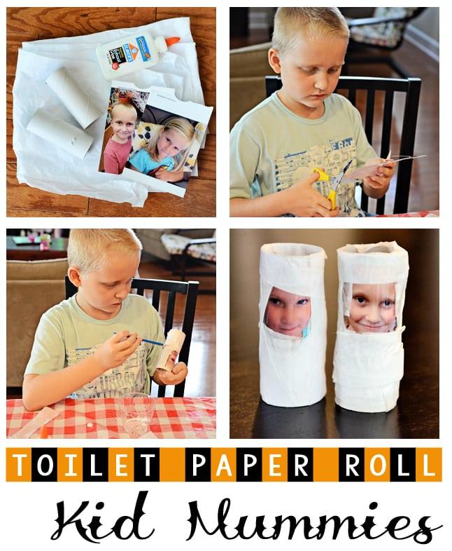 Toilet Paper Roll Kid Mummy