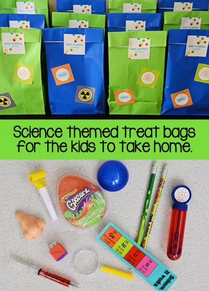 Throw a mad science birthday party madsciencepartytreatbagsjmb filmwisefo