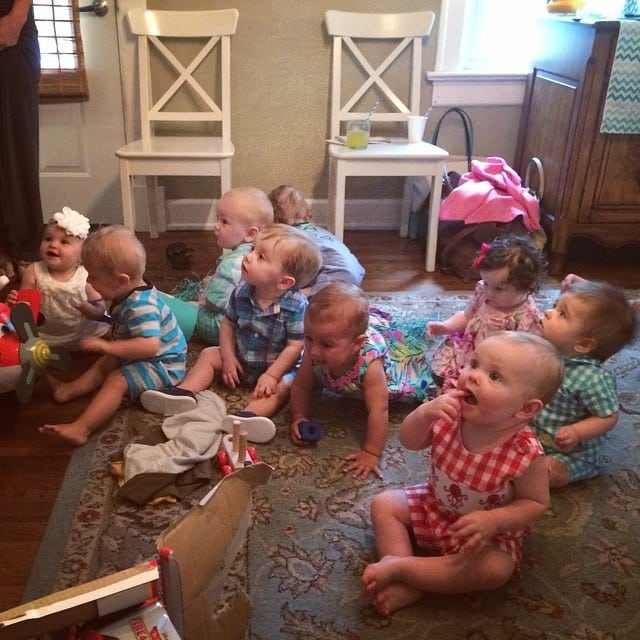 This is a First Birthday Party. And every one of these bebes has a Mama whom I consider a friend!