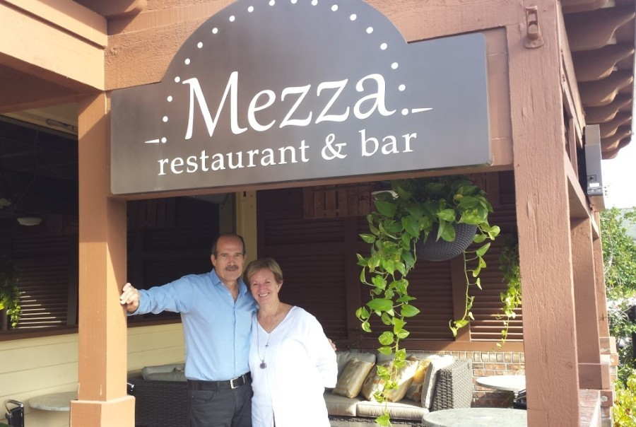 Owners Niall and Nancy Falloon have created a delightful neighborhood restaruant with Mezza