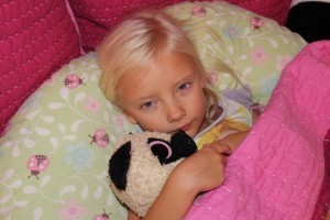 My sweet girl is not feeling well.