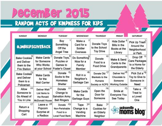 Kids Kindness Calendar : Random acts of kindness for kids downloadable calendar