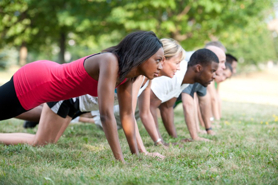YMCA group workout