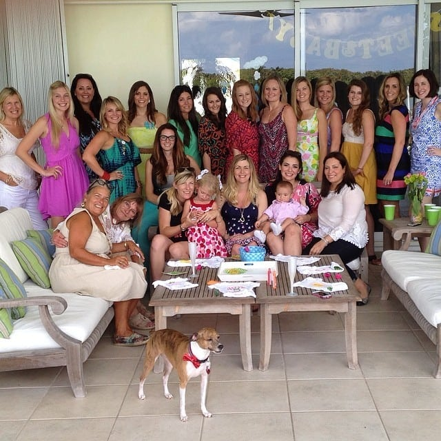 My 1st Baby Shower, in April 2014.