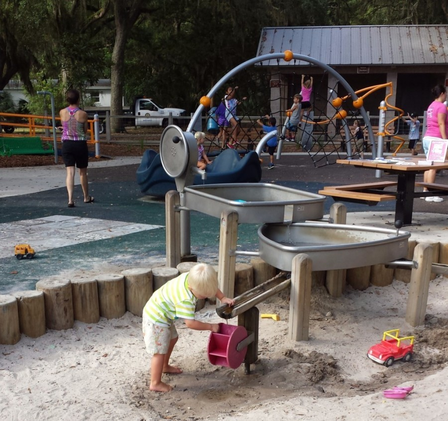 Loving all of the amazing things to play on at the Pirate Park