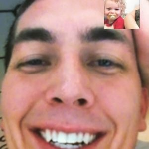 Blurry, I know- but for 7-9 months out any given 12, thesis how our holidays are celebrated. Thank God for FaceTime!