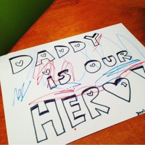 A little Father's Day care package crafting for an out of sight, very much NOT out of mind Daddy...