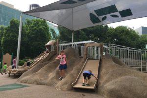 Sliding in Centennial Park
