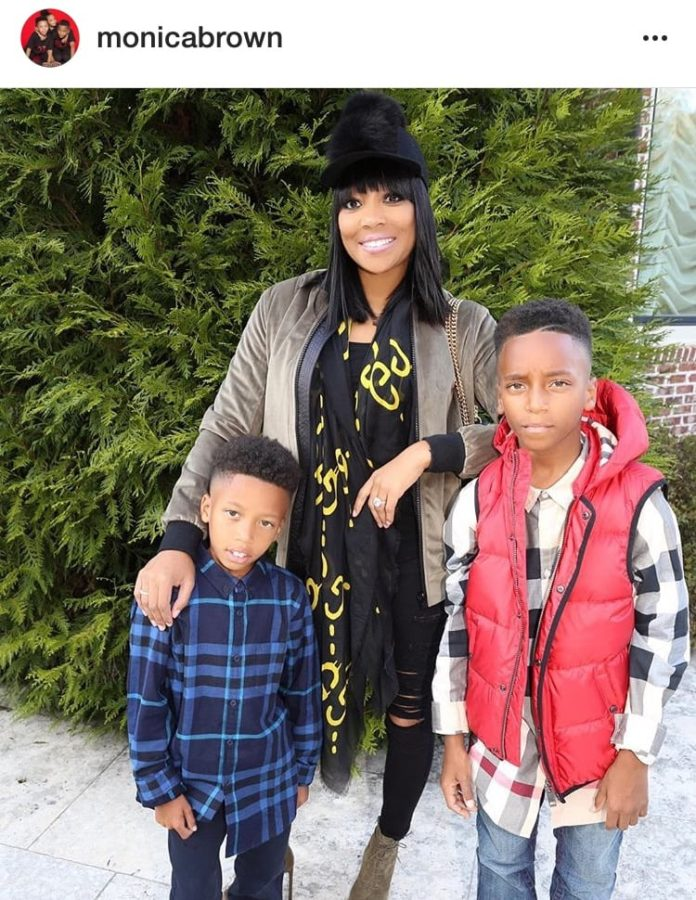 Mom of three, Monica Brown @monicabrown