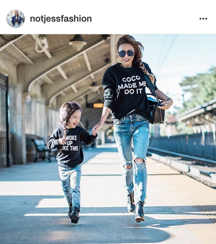 Mom of one, Jessica Wang @notjessfashion