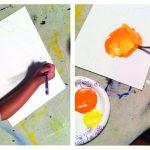 Pumpkin Patch Art Project for Kids!