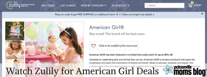Watch Zulily for American Girl Deals Jacksonville Moms Blog