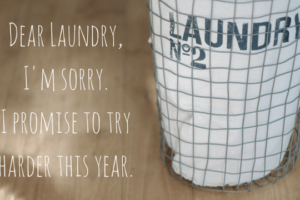 Dear Laundry,I'm sorry. I promise to try harder this year. I really do.