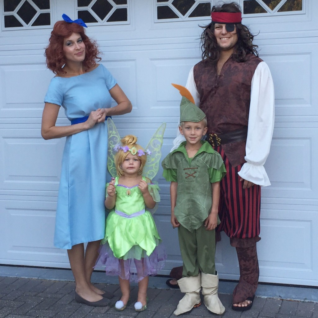 wendy tinkerbell peter pan and captain hook wish you all a happy and safe halloween