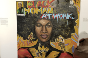 Black Woman at Work Mixed Media by Adrian Rhodes at The Ritz Theatre and Museum.