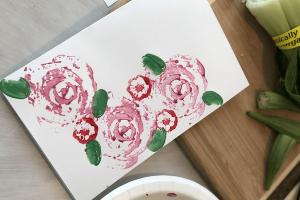 Easy Peasy Veggie Valentine's Day Craft