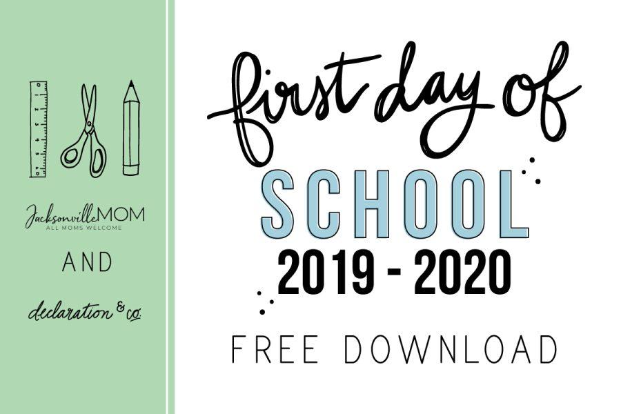 JAX-MOM-free first day of school printable