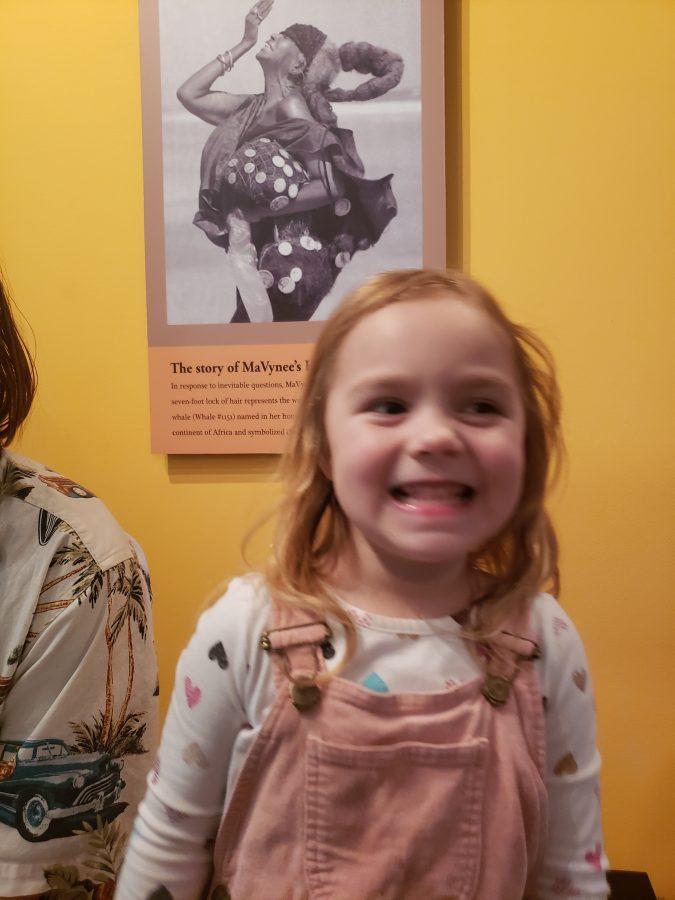 Girl at American Beach Museum