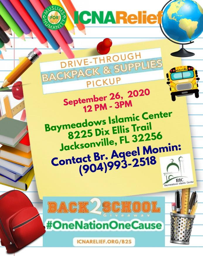 Free Drive Through Backpack Giveaway