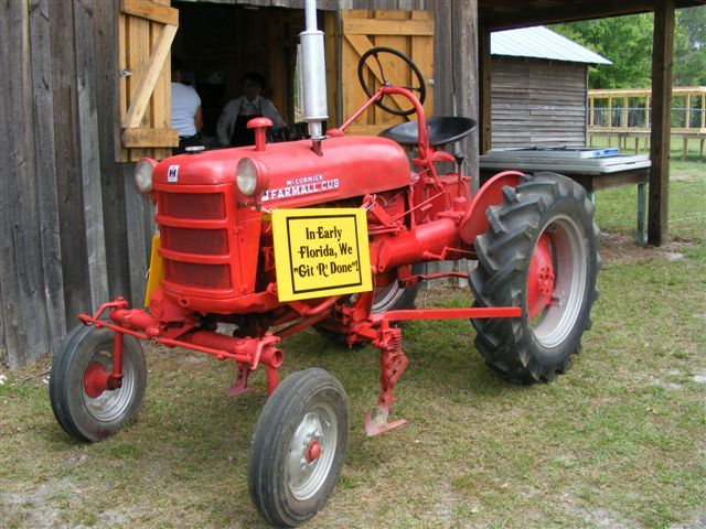 Tractor Display in Clay County Fair